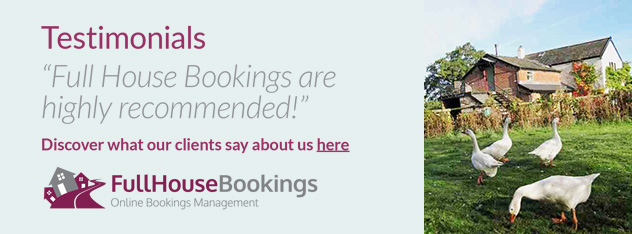 Testimonials - Full House Bookings are highl